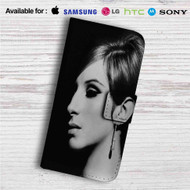 Barbra Streisand Face Custom Leather Wallet iPhone 4/4S 5S/C 6/6S Plus 7| Samsung Galaxy S4 S5 S6 S7 Note 3 4 5| LG G2 G3 G4| Motorola Moto X X2 Nexus 6| Sony Z3 Z4 Mini| HTC ONE X M7 M8 M9 Case