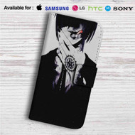 Black Butler Sebastian Michaelis Custom Leather Wallet iPhone 4/4S 5S/C 6/6S Plus 7| Samsung Galaxy S4 S5 S6 S7 Note 3 4 5| LG G2 G3 G4| Motorola Moto X X2 Nexus 6| Sony Z3 Z4 Mini| HTC ONE X M7 M8 M9 Case