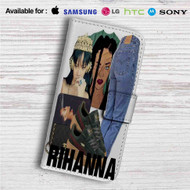Consideration Rihanna Custom Leather Wallet iPhone 4/4S 5S/C 6/6S Plus 7| Samsung Galaxy S4 S5 S6 S7 Note 3 4 5| LG G2 G3 G4| Motorola Moto X X2 Nexus 6| Sony Z3 Z4 Mini| HTC ONE X M7 M8 M9 Case