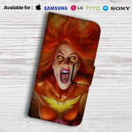Dark Phoenix Custom Leather Wallet iPhone 4/4S 5S/C 6/6S Plus 7| Samsung Galaxy S4 S5 S6 S7 Note 3 4 5| LG G2 G3 G4| Motorola Moto X X2 Nexus 6| Sony Z3 Z4 Mini| HTC ONE X M7 M8 M9 Case