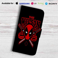 Deadpool Wade Wilson Custom Leather Wallet iPhone 4/4S 5S/C 6/6S Plus 7| Samsung Galaxy S4 S5 S6 S7 Note 3 4 5| LG G2 G3 G4| Motorola Moto X X2 Nexus 6| Sony Z3 Z4 Mini| HTC ONE X M7 M8 M9 Case