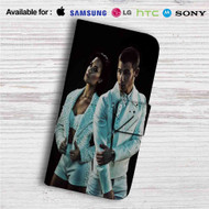 Demi Lovato and Nick Jonas Custom Leather Wallet iPhone 4/4S 5S/C 6/6S Plus 7| Samsung Galaxy S4 S5 S6 S7 Note 3 4 5| LG G2 G3 G4| Motorola Moto X X2 Nexus 6| Sony Z3 Z4 Mini| HTC ONE X M7 M8 M9 Case