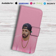 Drake Custom Leather Wallet iPhone 4/4S 5S/C 6/6S Plus 7| Samsung Galaxy S4 S5 S6 S7 Note 3 4 5| LG G2 G3 G4| Motorola Moto X X2 Nexus 6| Sony Z3 Z4 Mini| HTC ONE X M7 M8 M9 Case