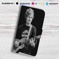 Ed Sheeran With Guitar Custom Leather Wallet iPhone 4/4S 5S/C 6/6S Plus 7| Samsung Galaxy S4 S5 S6 S7 Note 3 4 5| LG G2 G3 G4| Motorola Moto X X2 Nexus 6| Sony Z3 Z4 Mini| HTC ONE X M7 M8 M9 Case