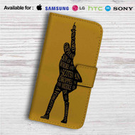 Hamilton King of Broadway Custom Leather Wallet iPhone 4/4S 5S/C 6/6S Plus 7| Samsung Galaxy S4 S5 S6 S7 Note 3 4 5| LG G2 G3 G4| Motorola Moto X X2 Nexus 6| Sony Z3 Z4 Mini| HTC ONE X M7 M8 M9 Case