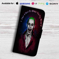 Jared Leto as Joker Suicide Squad Quotes Custom Leather Wallet iPhone 4/4S 5S/C 6/6S Plus 7| Samsung Galaxy S4 S5 S6 S7 Note 3 4 5| LG G2 G3 G4| Motorola Moto X X2 Nexus 6| Sony Z3 Z4 Mini| HTC ONE X M7 M8 M9 Case