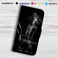 Joe Perry Aerosmith Custom Leather Wallet iPhone 4/4S 5S/C 6/6S Plus 7| Samsung Galaxy S4 S5 S6 S7 Note 3 4 5| LG G2 G3 G4| Motorola Moto X X2 Nexus 6| Sony Z3 Z4 Mini| HTC ONE X M7 M8 M9 Case