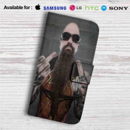 Kerry King Slayer Custom Leather Wallet iPhone 4/4S 5S/C 6/6S Plus 7| Samsung Galaxy S4 S5 S6 S7 Note 3 4 5| LG G2 G3 G4| Motorola Moto X X2 Nexus 6| Sony Z3 Z4 Mini| HTC ONE X M7 M8 M9 Case