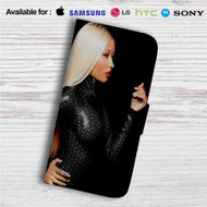 Nicki Minaj Custom Leather Wallet iPhone 4/4S 5S/C 6/6S Plus 7| Samsung Galaxy S4 S5 S6 S7 Note 3 4 5| LG G2 G3 G4| Motorola Moto X X2 Nexus 6| Sony Z3 Z4 Mini| HTC ONE X M7 M8 M9 Case