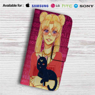 Sailor Moon Hipster Custom Leather Wallet iPhone 4/4S 5S/C 6/6S Plus 7| Samsung Galaxy S4 S5 S6 S7 Note 3 4 5| LG G2 G3 G4| Motorola Moto X X2 Nexus 6| Sony Z3 Z4 Mini| HTC ONE X M7 M8 M9 Case
