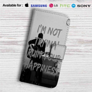 Shawn Mendes I'm Not Tryina Ruin Custom Leather Wallet iPhone 4/4S 5S/C 6/6S Plus 7| Samsung Galaxy S4 S5 S6 S7 Note 3 4 5| LG G2 G3 G4| Motorola Moto X X2 Nexus 6| Sony Z3 Z4 Mini| HTC ONE X M7 M8 M9 Case