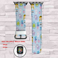 Alice in Wonderland Characters Disney Custom Apple Watch Band Leather Strap Wrist Band Replacement 38mm 42mm