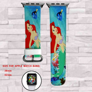Ariel Mermaid and Dory Disney Custom Apple Watch Band Leather Strap Wrist Band Replacement 38mm 42mm