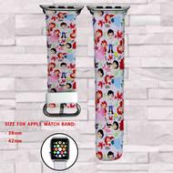 Ariel Princess Disney  Custom Apple Watch Band Leather Strap Wrist Band Replacement 38mm 42mm