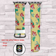 Ariel The Little Mermaid Disney Custom Apple Watch Band Leather Strap Wrist Band Replacement 38mm 42mm