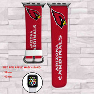 Arizona Cardinals Custom Apple Watch Band Leather Strap Wrist Band Replacement 38mm 42mm