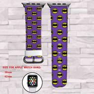 Batman Purple Custom Apple Watch Band Leather Strap Wrist Band Replacement 38mm 42mm