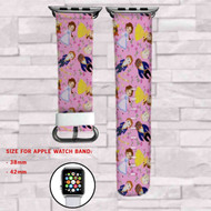 Beauty and The Beast Custom Apple Watch Band Leather Strap Wrist Band Replacement 38mm 42mm