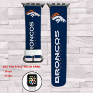 Denver Broncos Custom Apple Watch Band Leather Strap Wrist Band Replacement 38mm 42mm