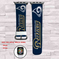 Copy of Los Angeles Chargers Custom Apple Watch Band Leather Strap Wrist Band Replacement 38mm 42mm