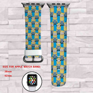 Minions 2 Custom Apple Watch Band Leather Strap Wrist Band Replacement 38mm 42mm