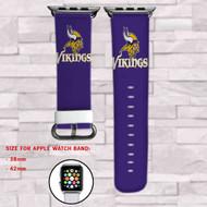 Minnesota Vikings Custom Apple Watch Band Leather Strap Wrist Band Replacement 38mm 42mm