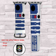Star Wars Droid R2D2 Custom Apple Watch Band Leather Strap Wrist Band Replacement 38mm 42mm