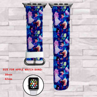 Steven Universe Pattern Custom Apple Watch Band Leather Strap Wrist Band Replacement 38mm 42mm