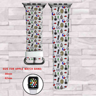 Stranger Things 2 Custom Apple Watch Band Leather Strap Wrist Band Replacement 38mm 42mm