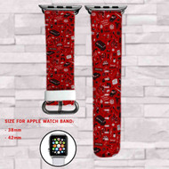 Stranger Things Custom Apple Watch Band Leather Strap Wrist Band Replacement 38mm 42mm