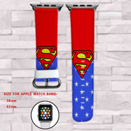 Superman DC Comics Superheroes Custom Apple Watch Band Leather Strap Wrist Band Replacement 38mm 42mm