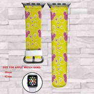 Sweet Minnie Mouse Custom Apple Watch Band Leather Strap Wrist Band Replacement 38mm 42mm