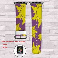 Tangled Disney Sun Symbol Custom Apple Watch Band Leather Strap Wrist Band Replacement 38mm 42mm