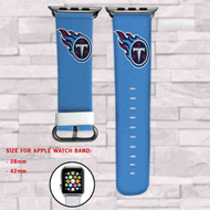 Tennessee Titans Custom Apple Watch Band Leather Strap Wrist Band Replacement 38mm 42mm
