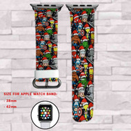 The Avengers Characters Custom Apple Watch Band Leather Strap Wrist Band Replacement 38mm 42mm