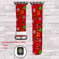 The Avengers Superheroes Marvel Custom Apple Watch Band Leather Strap Wrist Band Replacement 38mm 42mm