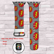 The Flash DC Comics Superheroes Grey Custom Apple Watch Band Leather Strap Wrist Band Replacement 38mm 42mm