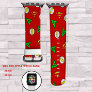 The Flash Supergirl Arrow Custom Apple Watch Band Leather Strap Wrist Band Replacement 38mm 42mm