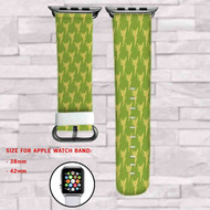 Tinkerbell Disney Green Custom Apple Watch Band Leather Strap Wrist Band Replacement 38mm 42mm