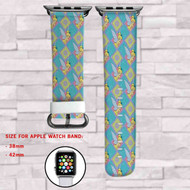 Tinkerbell Disney Custom Apple Watch Band Leather Strap Wrist Band Replacement 38mm 42mm