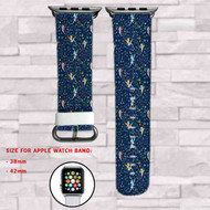 Tinkerbell Custom Apple Watch Band Leather Strap Wrist Band Replacement 38mm 42mm