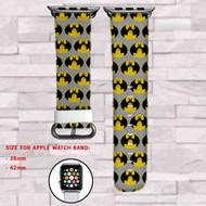 Totoro Batman Custom Apple Watch Band Leather Strap Wrist Band Replacement 38mm 42mm