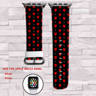 Udertale Love Custom Apple Watch Band Leather Strap Wrist Band Replacement 38mm 42mm