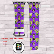 Undertale Frisk Chara and FLowey Custom Apple Watch Band Leather Strap Wrist Band Replacement 38mm 42mm