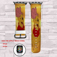 Winnie The Pooh With Honey Custom Apple Watch Band Leather Strap Wrist Band Replacement 38mm 42mm