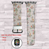 Winnie The Pooh Custom Apple Watch Band Leather Strap Wrist Band Replacement 38mm 42mm