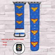 Wonder Woman 2 Custom Apple Watch Band Leather Strap Wrist Band Replacement 38mm 42mm