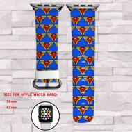 Wonder Women Superman DC Comics Custom Apple Watch Band Leather Strap Wrist Band Replacement 38mm 42mm