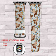 Woody Toy Story Custom Apple Watch Band Leather Strap Wrist Band Replacement 38mm 42mm