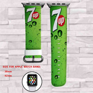 7Up Drink Custom Apple Watch Band Leather Strap Wrist Band Replacement 38mm 42mm